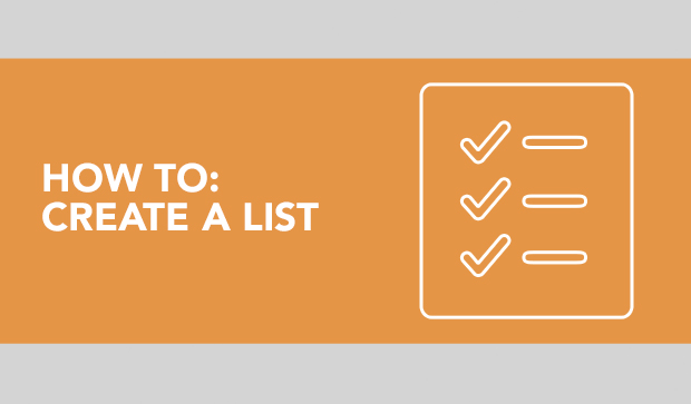 How to Create a List